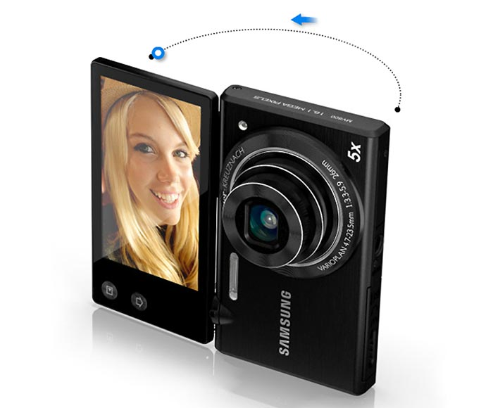 Appareil photo tactile samsung mv800 arkko for Appareil photo ecran 180