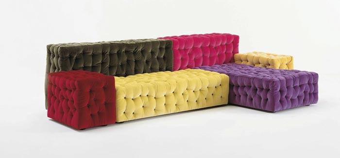 Canape design modulable et colore