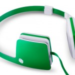 Casque audio design vert