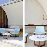 Chambre avec terrasse de l'Hotel Sezz de Saint Tropez