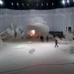 Decor du dernier defile Chanel par Zaha Hadid