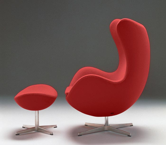 Egg Chair rouge