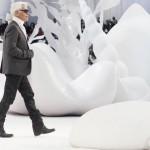 Karl Lagerfeld au dernier defile Chanel