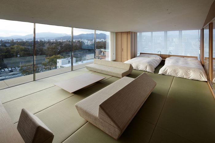 Kyoto Kokusai Hotel Room par Kengo Kuma and Associates