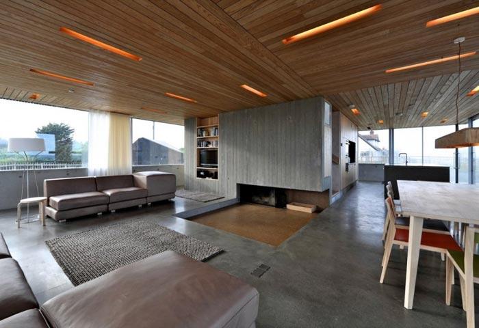 Maison design anglaise piece a vivre