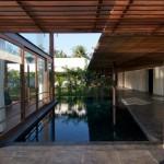 Maison design en Inde terrasse et piscine