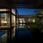 Maison design en Inde vue exterieure