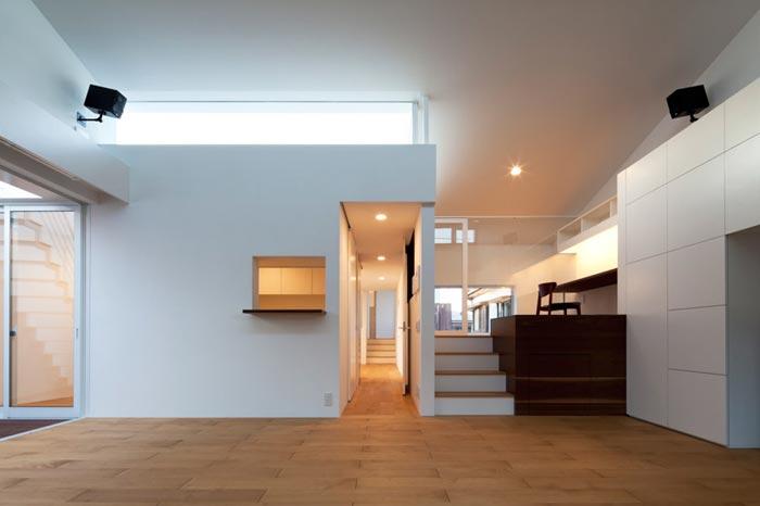 maison design japonaise demi niveaux arkko. Black Bedroom Furniture Sets. Home Design Ideas