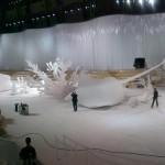 Montage des decors de Zaha Hadid pour Chanel