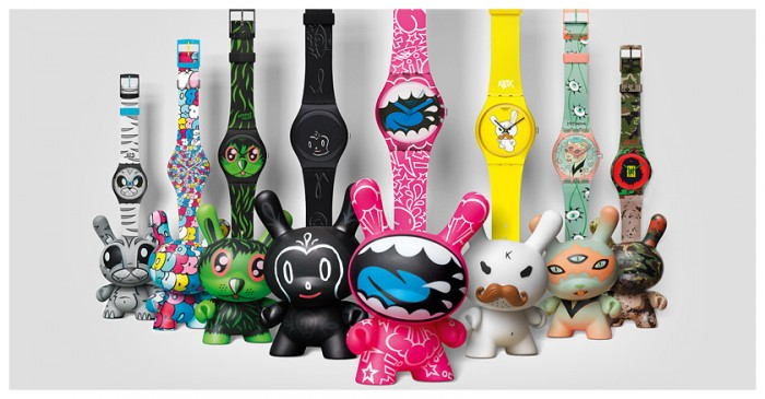 Montre Gents et Dunny Kidrobot for Swatch