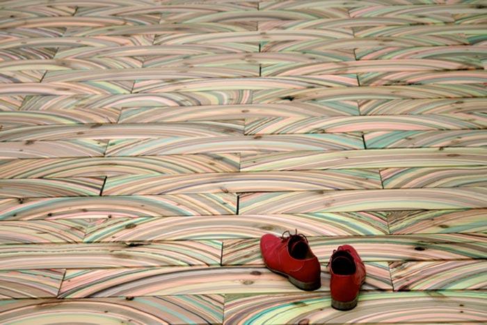 Parquet design Marbelous floor