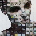 Portrait design sur disquette par Nick Gentry