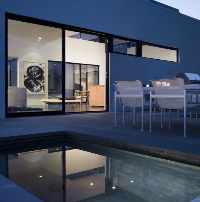 Residence design terrasse et piscine