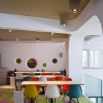 Restaurant design avec chaises Eames