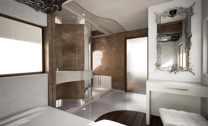 Salle de bain du Camping Car de luxe Palazzo