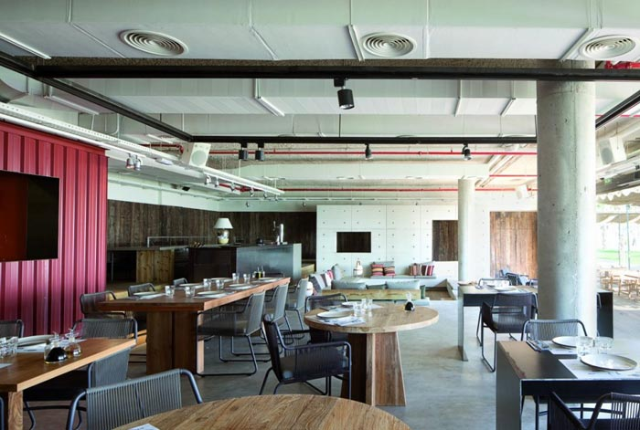 Salle de restaurant design et vintage