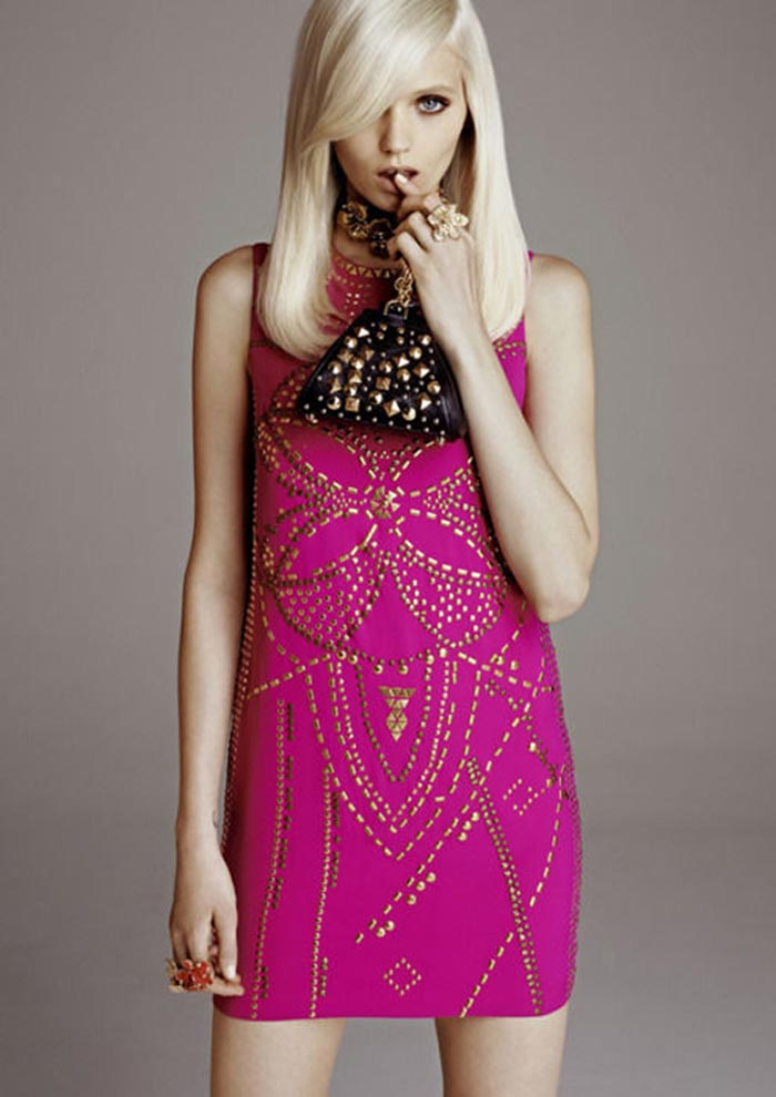 Versace for H&M robe rose