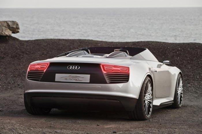 Vue arriere Audi E-Tron Spyder
