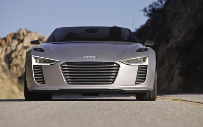 Vue avant Audi E-Tron Spyder