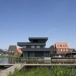 Vue exterieure Maison design noire