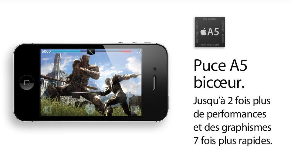 processeur dualcore a5 iphone4s