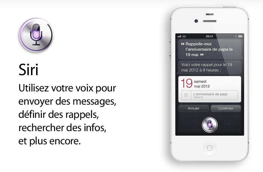 reconnaissance vocale siri iphone4s
