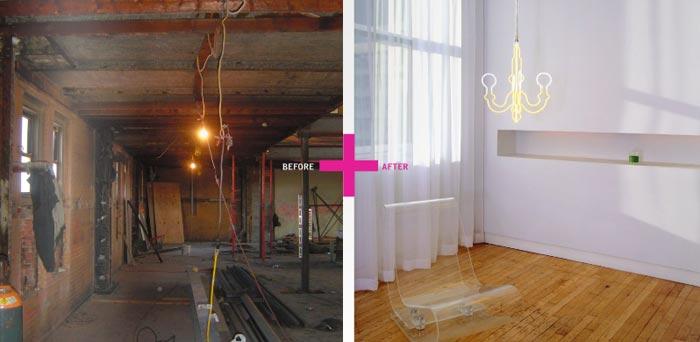 Avant Apres-Loft new-yorkais-Chambre