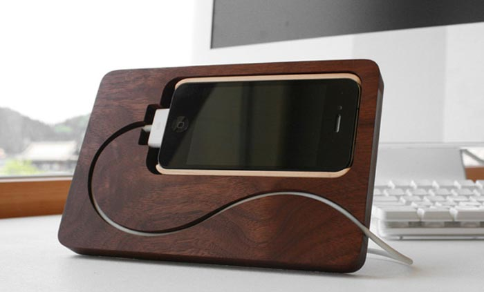 BaseStation Dock iPhone en bois