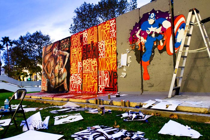 Behind the Berlin Wall Exhibition par D*Face et Retna