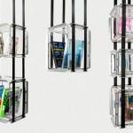 Bibliotheque suspendue design pour l'espace culturel Louis Vuitton
