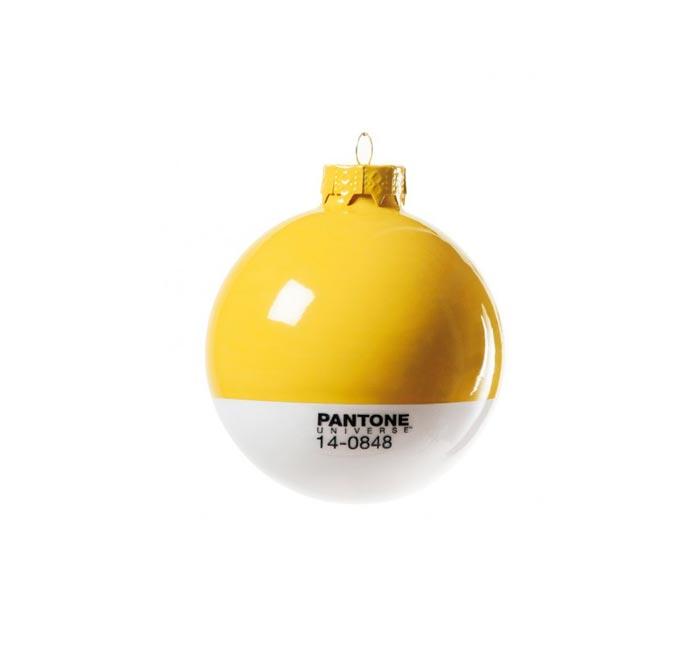 Boule de Noel Pantone jaune