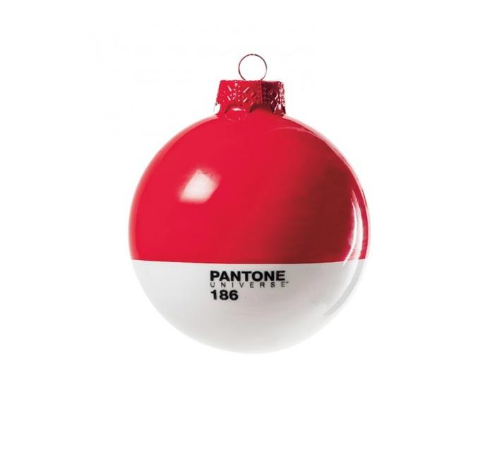 Boule de Noel Pantone rouge