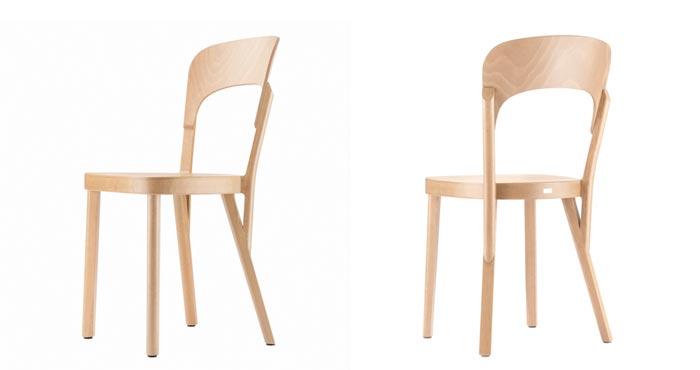 Chaise 107 Thonet en bois clair