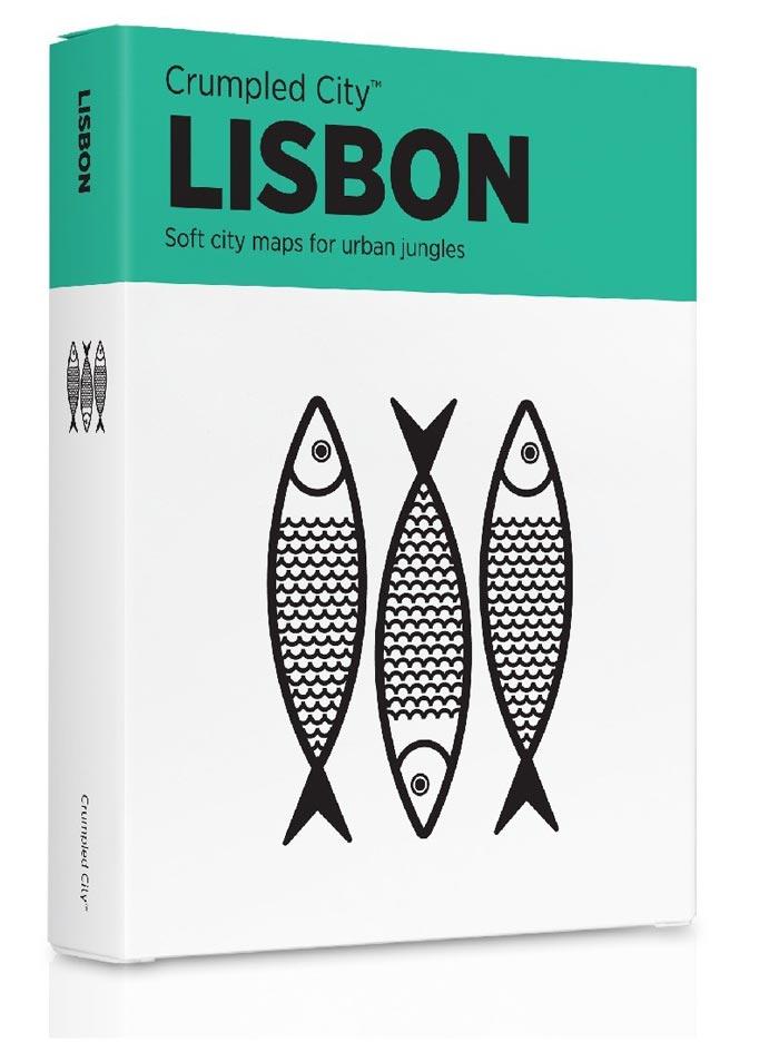 Crumpled City Maps Lisbon
