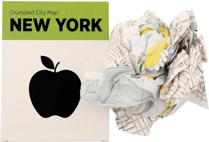 Crumpled City Maps new York