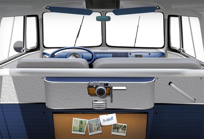 Design interieur Transporter Fanwagen facebook