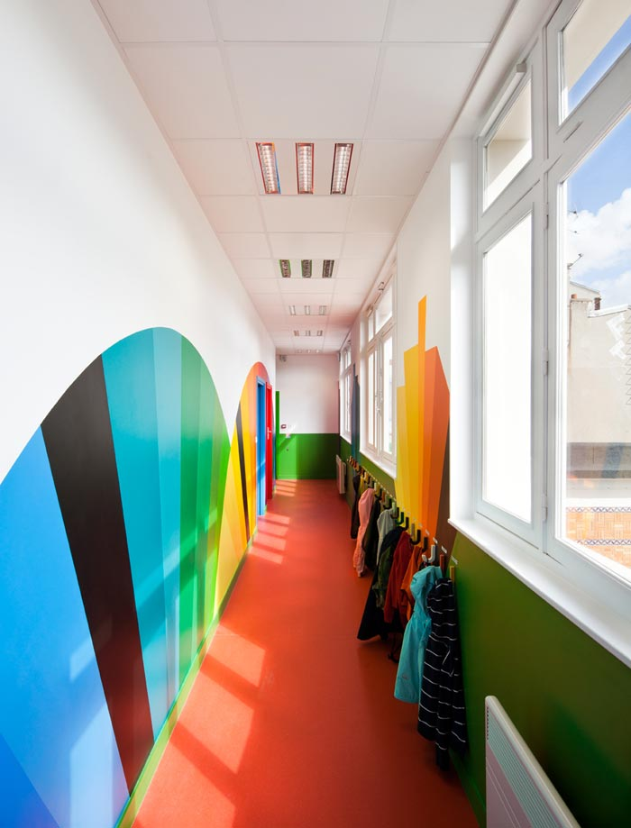 Ecole maternelle design-Couloirs