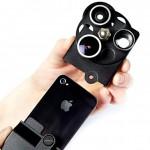 Etui iPhone avec trois objectif