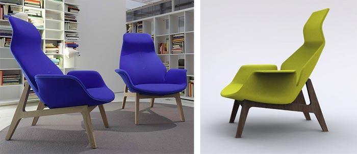 Fauteuil design Ventura par Jean Marie Massaud
