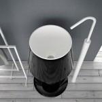 Lavabo design en forme de lampe