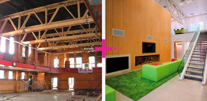 loft new yorkais de 650m2. Black Bedroom Furniture Sets. Home Design Ideas