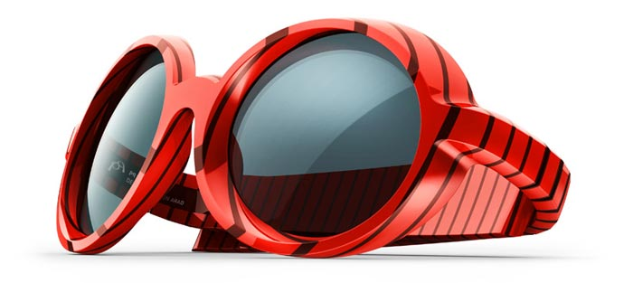 Lunettes Ron Arad Corbs Waterloo rouges
