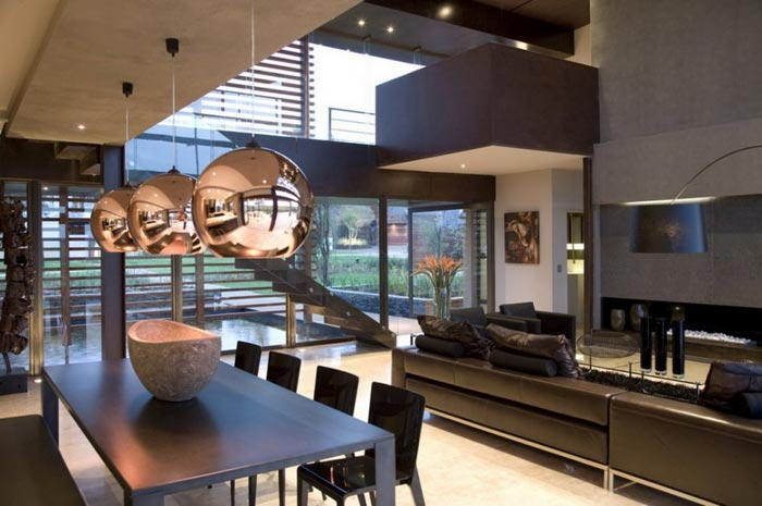 Maison design en Afrique du Sud-Salle a manger