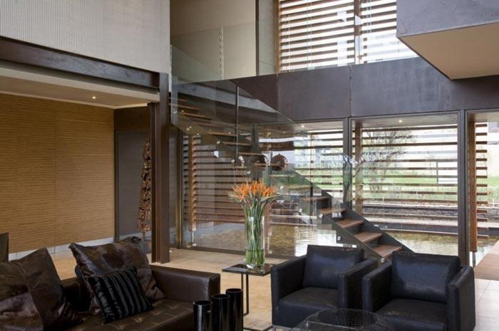 Maison design en Afrique du Sud-Salon