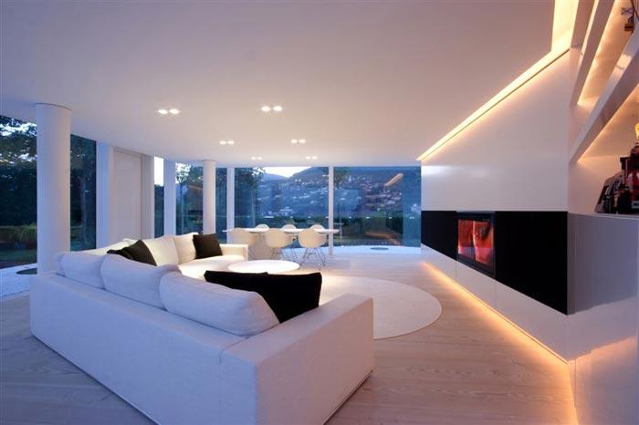 Maison design en Suisse-Salon