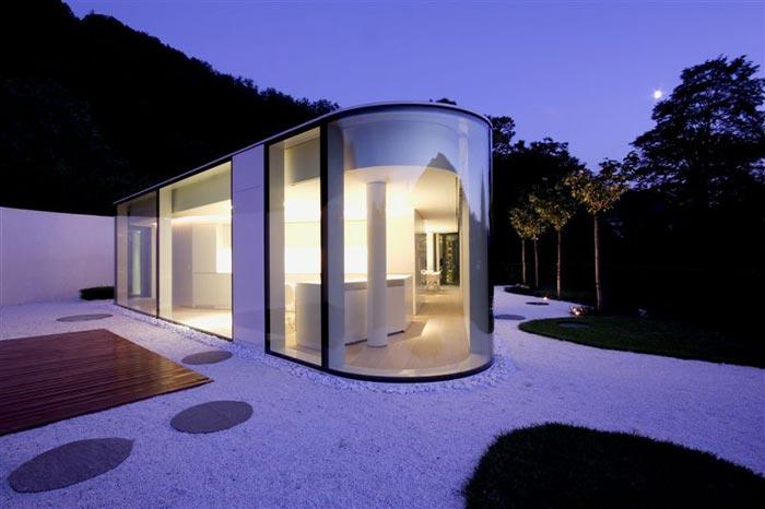 Maison design en Suisse-Vue exterieure