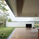 Maison design japonaise a Sakuragaoka-Salon ouvert