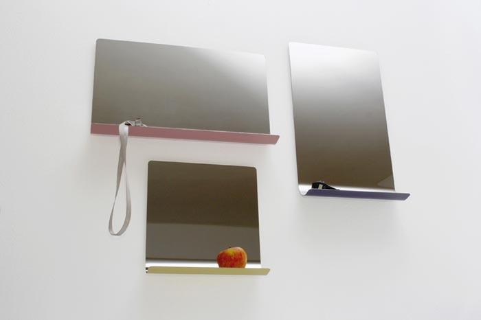 Miroir design avec etagere