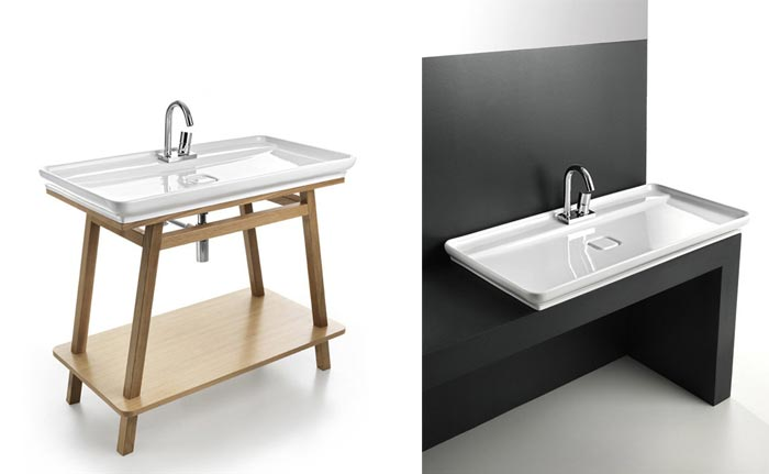 Mobilier de salle de bain minimaliste arkko for Salle de bain minimaliste