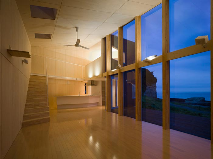 Villa design de bord de mer avec vue panoramique